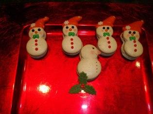 Macarons - Sneeuwmannen